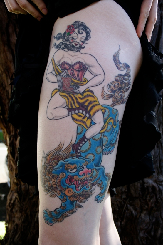 Tattoo by Megan Oliver - Strength