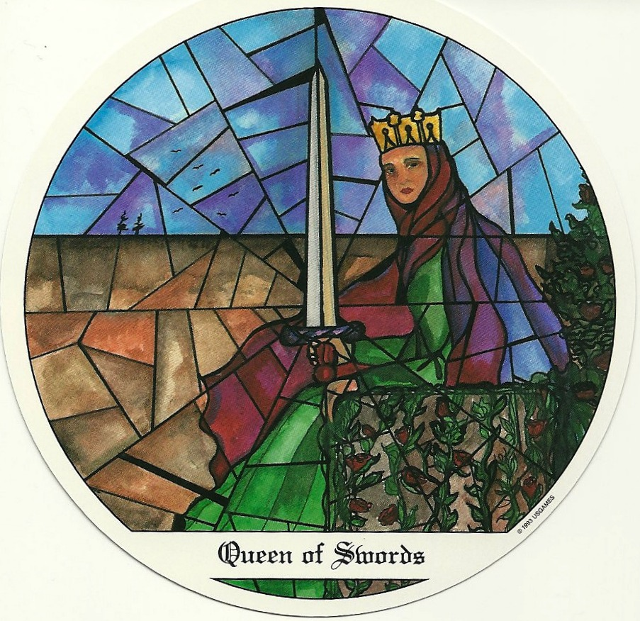 Queen of Swords from Tarot of the Cloisters by Michelle Leavitt