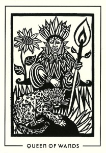 Queen of Wands - Light & Shadow Tarot