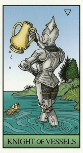 Knight of Vessels - Alchemical Tarot by Robert M. Place