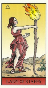 Lady of Staffs - Alchemical Tarot by Robert M. Place