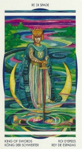 King of Swords - Crystal Tarot by Elisabetta Trevisan