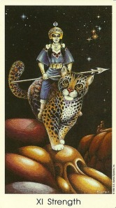 Strength - Tarot of the Cat People by Karen Kuykendall