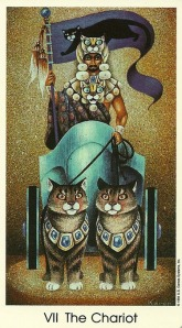 The Chariot - Tarot of the Cat People by Karen Kuykendall