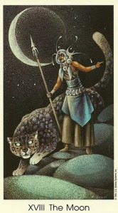 The Moon - Tarot of the Cat People by Karen Kuykendall