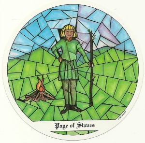 Page of Staves - Tarot of the Cloisters by Michelle Leavitt