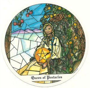 Queen of Pentacles - Tarot of the Cloisters by Michelle Leavitt