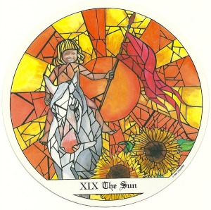 The Sun - Tarot of the Cloisters by Michelle Leavitt