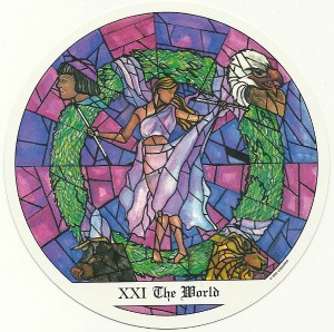 The World - Tarot of the Cloisters by Michelle Leavitt