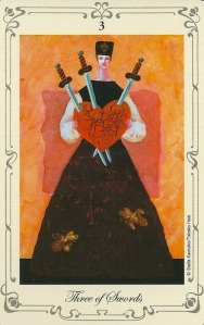 3 of Swords - Stella's Tarot by Stella Kaoruko & Takako Hoei