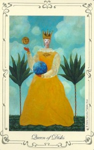 Queen of Disks (Pentacles) - Stella's Tarot by Stella Kaoruko & Takako Hoei