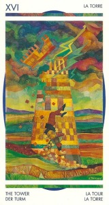 The Tower - Crystal Tarot by Elisabetta Trevisan