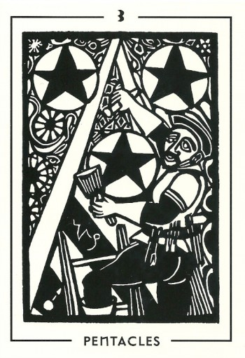 3 of Pentacles - Light and Shadow Tarot by Michael Goepferd and Brian Williams