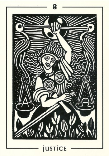 Justice - Light and Shadow Tarot by Michael Goepferd and Brian Williams