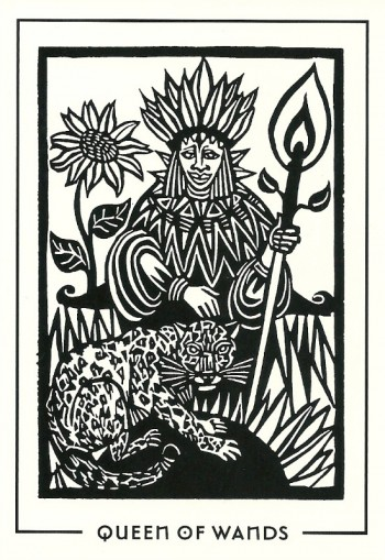 Queen of Wands - Light and Shadow Tarot by Michael Goepferd and Brian Williams