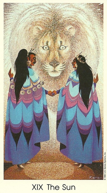 The Sun - Tarot of the Cat People by Karen Kuykendall
