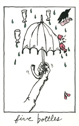 5 of Bottles - The Collective Tarot, by The Tarot Collective