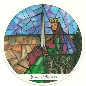 Queen of Swords - Tarot of the Cloisters by Michelle Leavitt