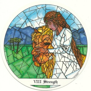 Strength - Tarot of the Cloisters by Michelle Leavitt
