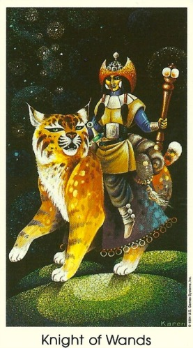 Knight of Wands - Tarot of the Cat People by Karen Kuykendall