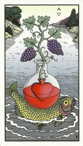 Ace of Vessels (Cups) - Alchemical Tarot Renewed by Robert M. Place