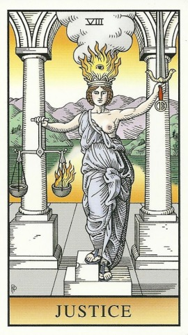 Justice - Alchemical Tarot Renewed by Robert M. Place