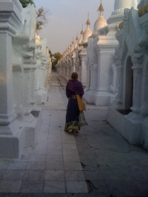 Kuthodaw Paya, Mandalay: the biggest book in the world. Each of the white stupas houses one 'page' (on a marble slab).