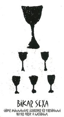 Bikar Sexa (6 of Cups) - Íslensk Tarotspil by Inga Rósa Loftsdóttir