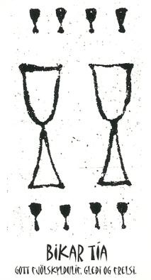 Bikar Tía (10 of Cups) - Íslensk Tarotspil by Inga Rósa Loftsdóttir