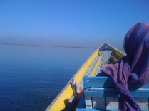 On a boat in Inle Lake