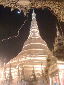 Nighttime at Shwedagon Pagoda. Such a marvellous place :-)