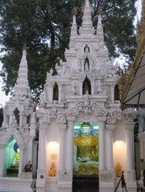 Psychedelic buddhas & bodhi tree at Shwedagon Pagoda