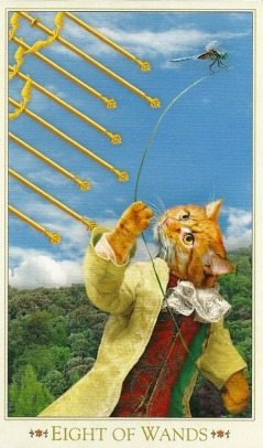 8 of Wands - Bohemian Cats' Tarot by Alex Ukolov & Karen Mahony