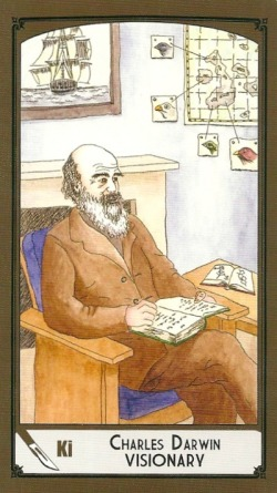 King of Swords - Charles Darwin - Visionary - Science Tarot