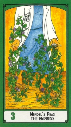Mendel's Peas - The Empress - Science Tarot