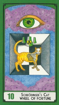Schrodinger's Cat - Wheel of Fortune - Science Tarot