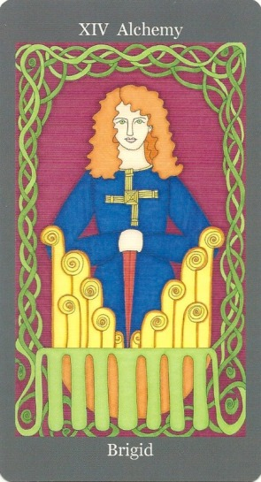 Alchemy (Temperance) ~ Brigid - Dark Goddess Tarot by Ellen Lorenzi-Prince-1.jpg