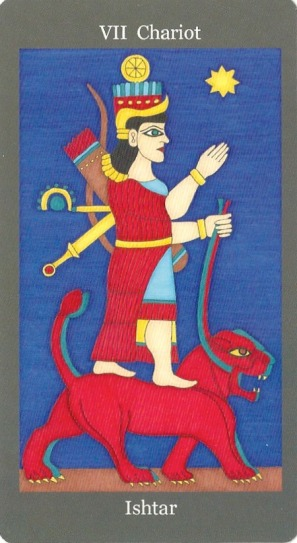 Chariot ~ Ishtar - Dark Goddess Tarot by Ellen Lorenzi-Prince-2.jpg