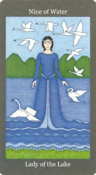 Nine of Water (Cups) ~ Lady of the Lake - Dark Goddess Tarot by Ellen Lorenzi-Prince-2.jpg