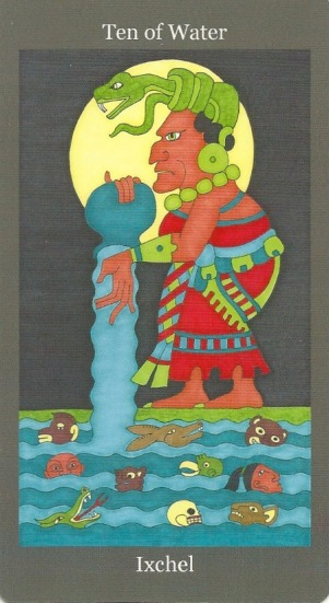 Ten of Water (Cups) ~ Ixchel - Dark Goddess Tarot by Ellen Lorenzi-Prince.jpg