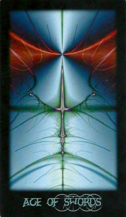 Ace of Swords - Fractal Tarot by Sara M. Pellerin