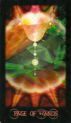 Page of Wands - Fractal Tarot by Sara M. Pellerin