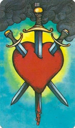 Three of Swords - Morgan Greer Tarot by Bill Greer & Lloyd Morgan