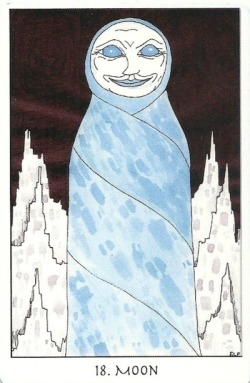 The Moon - Tarot of the Crone by Ellen Lorenzi-Prince