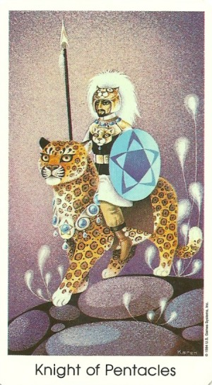 Knight of Pentacles - Tarot of the Cat People by Karen Kuykendall