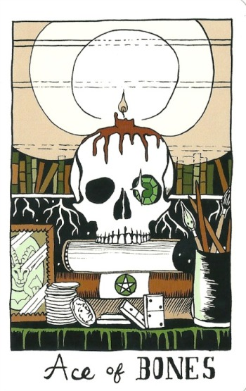 Ace of Bones (Pentacles) - The Collective Tarot by the Tarot Collective