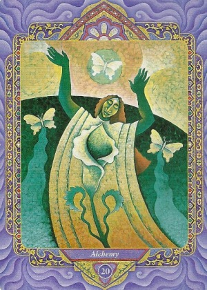 20 Alchemy (Judgement) - Triple Goddess Tarot by Isha Lerner (art by Mara Friedman)