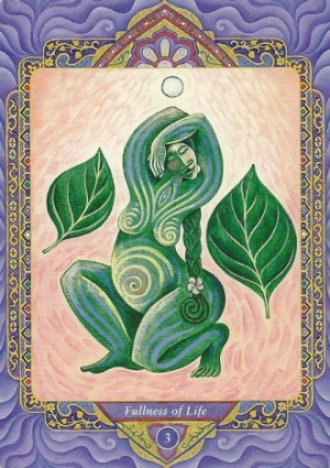 3 Fullness of Life (Empress) - Triple Goddess Tarot by Isha Lerner (art by Mara Friedman)