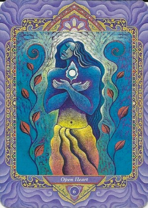 6 Open Heart (The Lovers) - Triple Goddess Tarot by Isha Lerner (art by Mara Friedman)