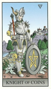 Knight of Coins (Pentacles) - Alchemical Tarot Renewed by Robert M. Place